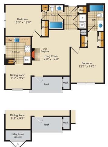 Md gaithersburg thecourtsofdevon p0326919 2bedroom2bath 2 floorplan