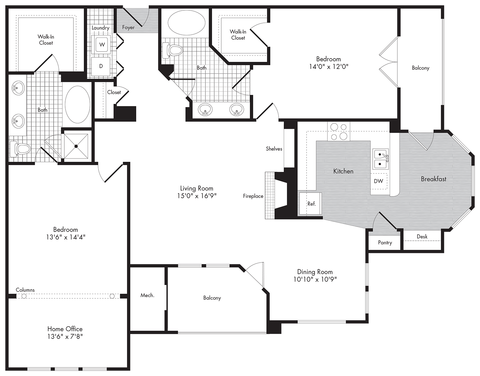 Floor Plans Greenwich Place Apartments