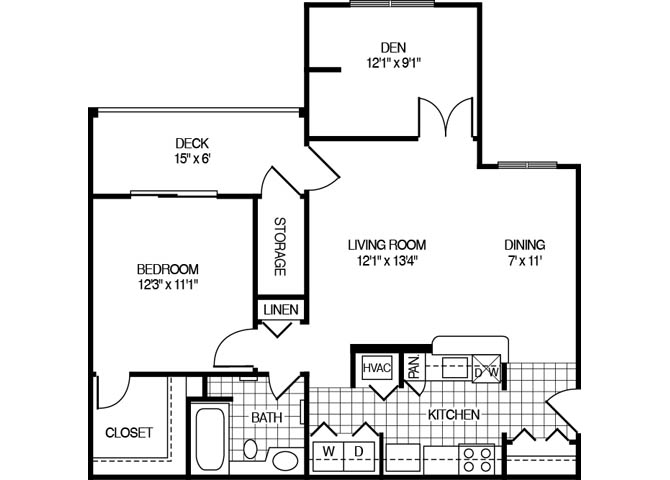 Apartment 1108 floorplan