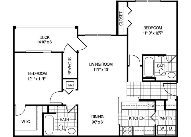Apartment 2144 floorplan