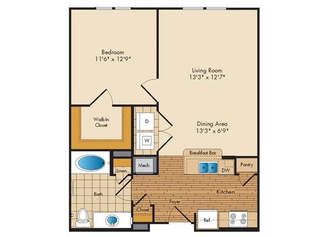 Md landover jerichoresidences p0326923 1bed1bath 2 floorplan