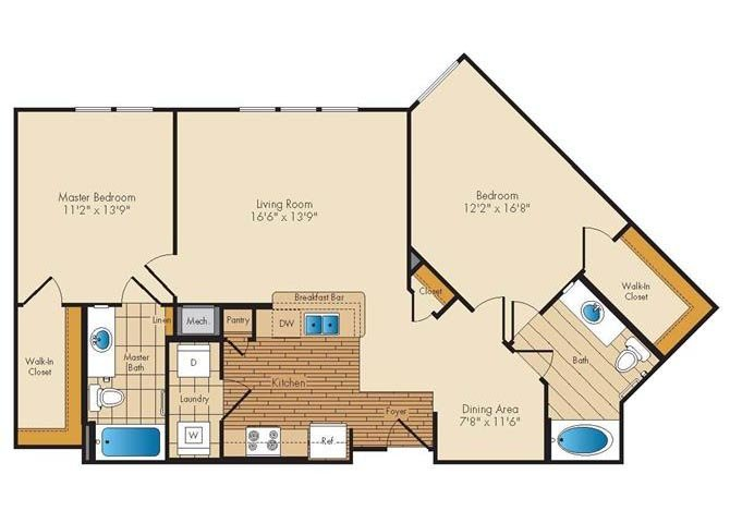 Md landover jerichoresidences p0326923 2bed2bath 2 floorplan