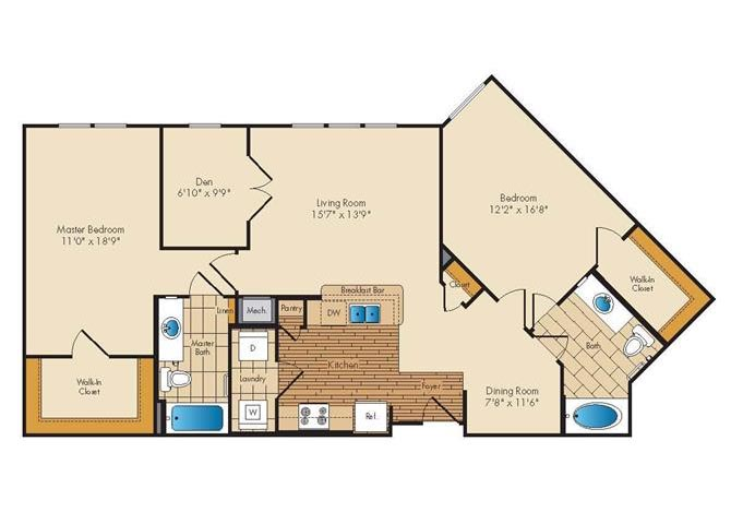 Md landover jerichoresidences p0326923 2bed2bathwden 2 floorplan