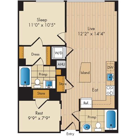 Dc washington flats130atconstitutionsquare p0336112 12783 2 floorplan