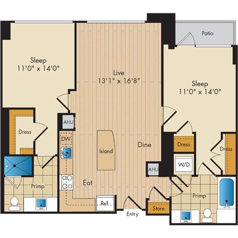 Dc washington flats130atconstitutionsquare p0336112 221061 2 floorplan