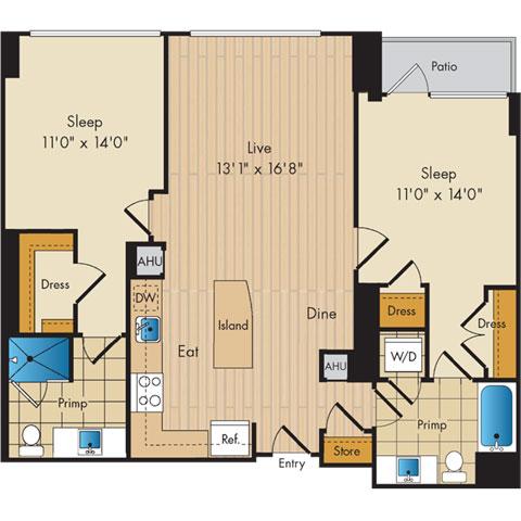 Dc washington flats130atconstitutionsquare p0336112 221087 2 floorplan