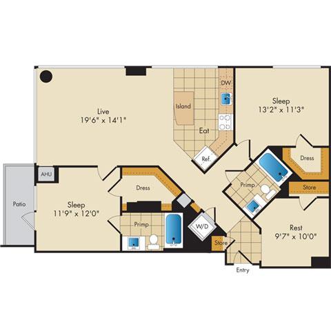 Dc washington flats130atconstitutionsquare p0336112 221200 2 floorplan