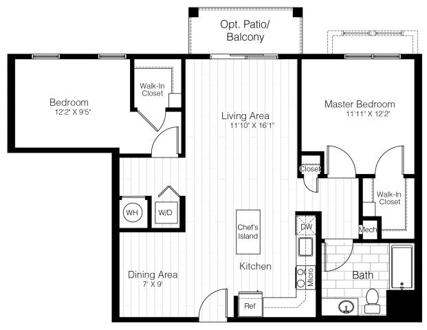 B10twobed1033sf 2 floorplan