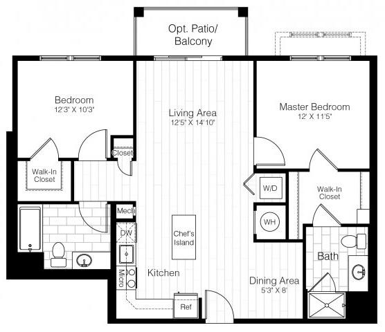 B11twobed1024sf 2 floorplan