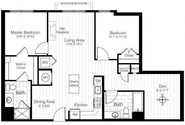 B13dtwobed1138sf 2 floorplan