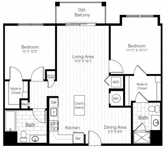 B1atwobed1085sf 2 floorplan