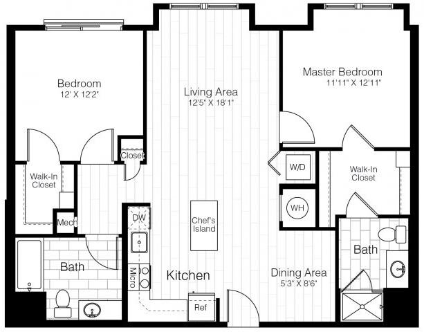 B1btwobed1104sf 2 floorplan