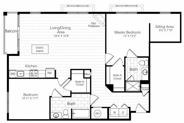 B3twobed1330sf 2 floorplan