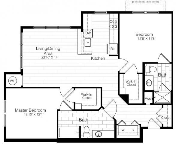 B4twobed1149sf 2 floorplan