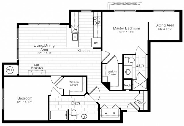 B5twobed1243sf 2 floorplan