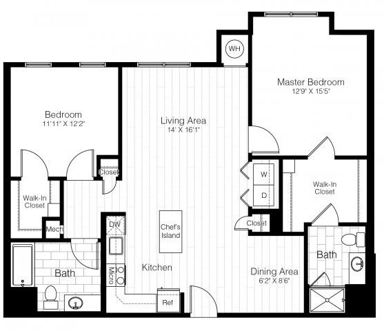 B6twobed1220sf 2 floorplan