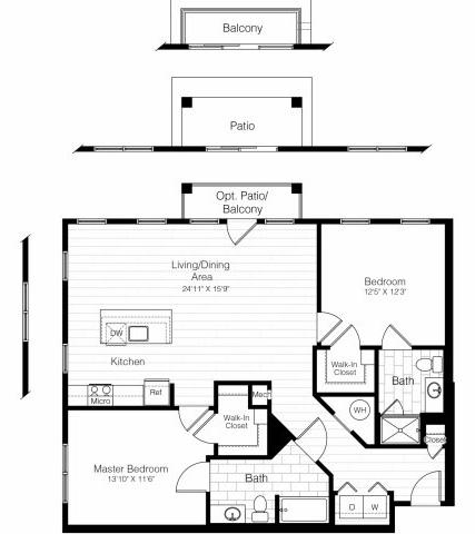 B7twobed1185sf 2 floorplan