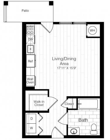 S1hstudio553sf 2 floorplan