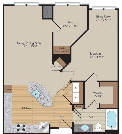 Apartment 414 floorplan