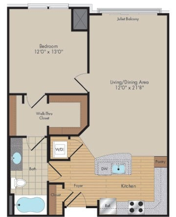 Apartment 605 floorplan