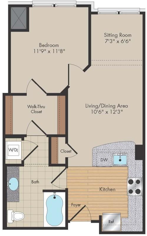 Apartment 314 floorplan