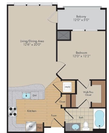 Apartment 452 floorplan