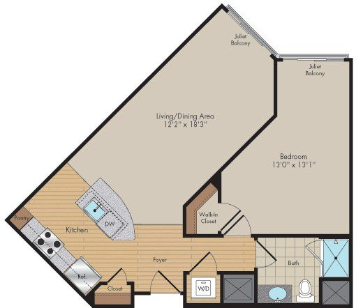 Apartment 634 floorplan