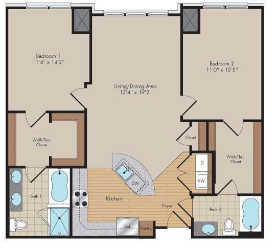 Apartment 429 floorplan