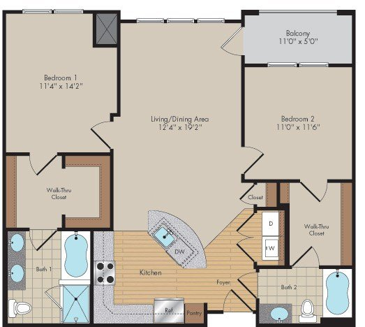 Apartment 537 floorplan