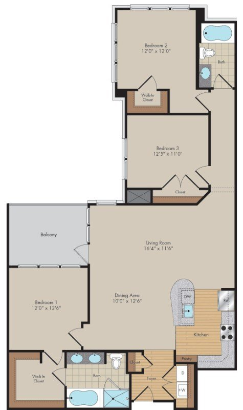 Apartment 644 floorplan