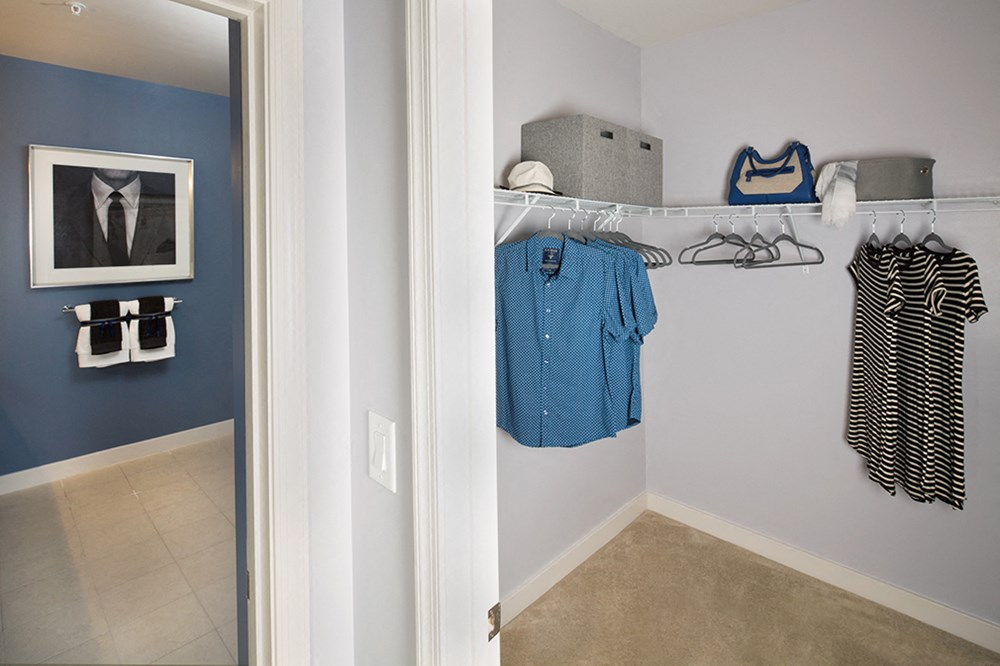 Walk-in-closets with ample space