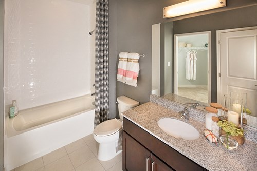 Bathrooms with granite countertops