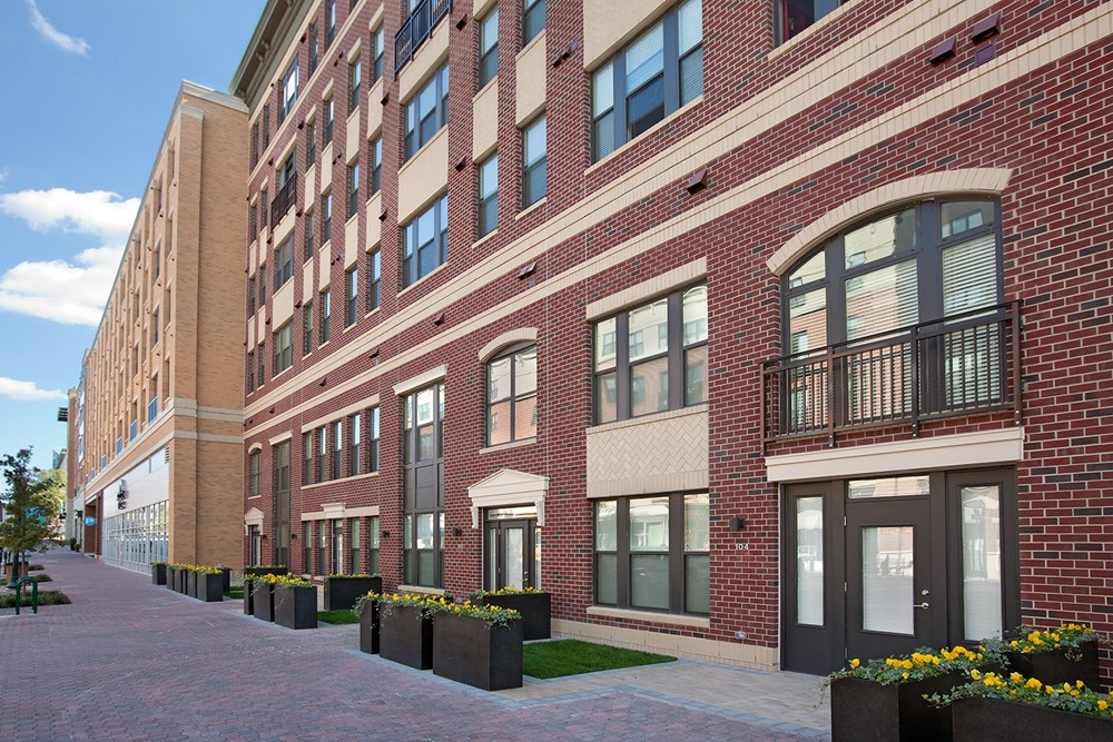 Private entrances for select two-story urban-style lofts