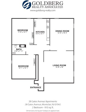 Floor Plans For 28 Gates Avenue Apartments Located In