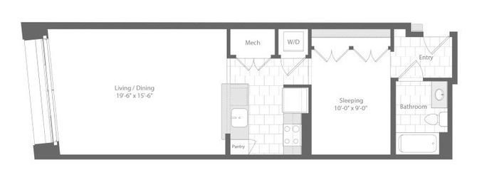 Md baltimore unionwharf p0233501 bagwell studio 686sf 2 floorplan