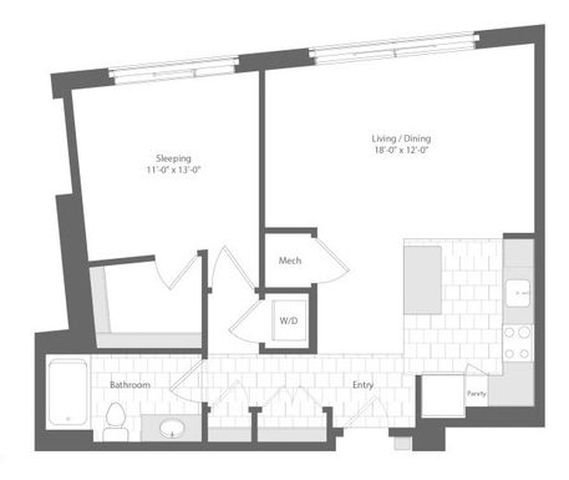 Md baltimore unionwharf p0233501 cordage 1bed 806sf 2 floorplan