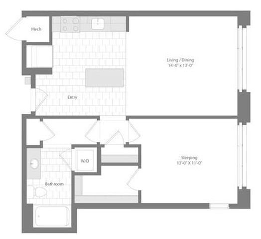 Md baltimore unionwharf p0233501 cutter 1bed 730sf 2 floorplan