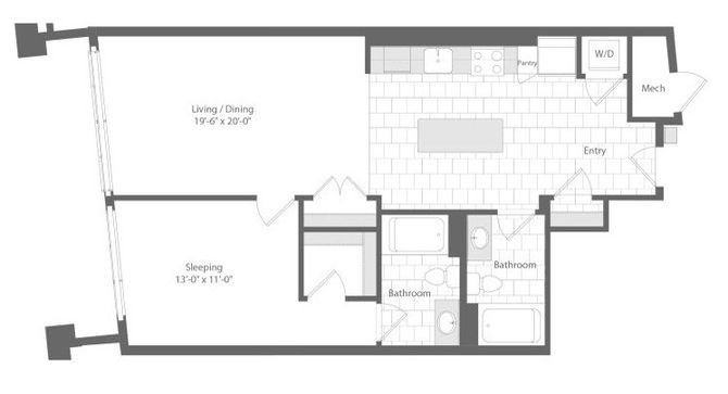 Md baltimore unionwharf p0233501 grapnel 1bed 932sf 2 floorplan