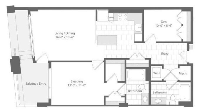 Md baltimore unionwharf p0233501 hawse 1bed 1004sf 2 floorplan