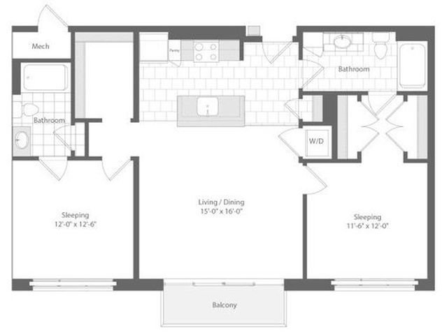 Md baltimore unionwharf p0233501 lading 2bed 1065sf 2 floorplan