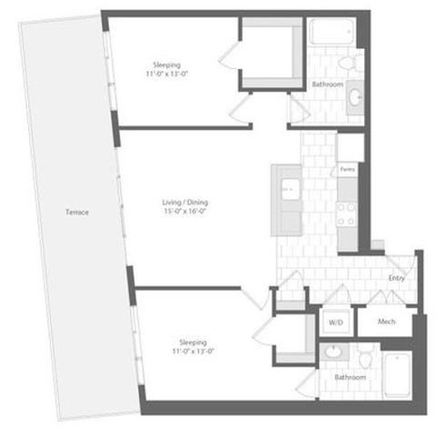 Md baltimore unionwharf p0233501 large 2bed 1068sf 2 floorplan