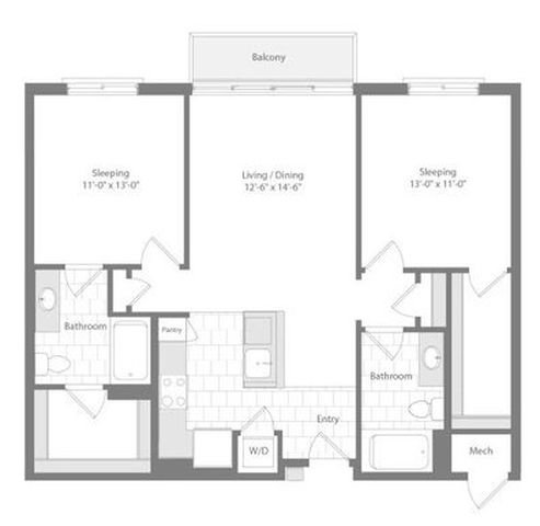 Md baltimore unionwharf p0233501 lodestar 2bed 1041sf 2 floorplan