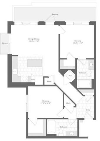 Md baltimore unionwharf p0233501 narrows 2bed 1003sf 2 floorplan