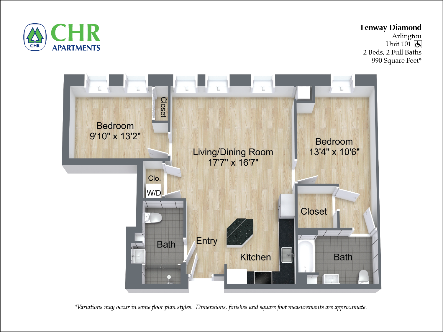 Click to view Floor plan 2 BR image 7