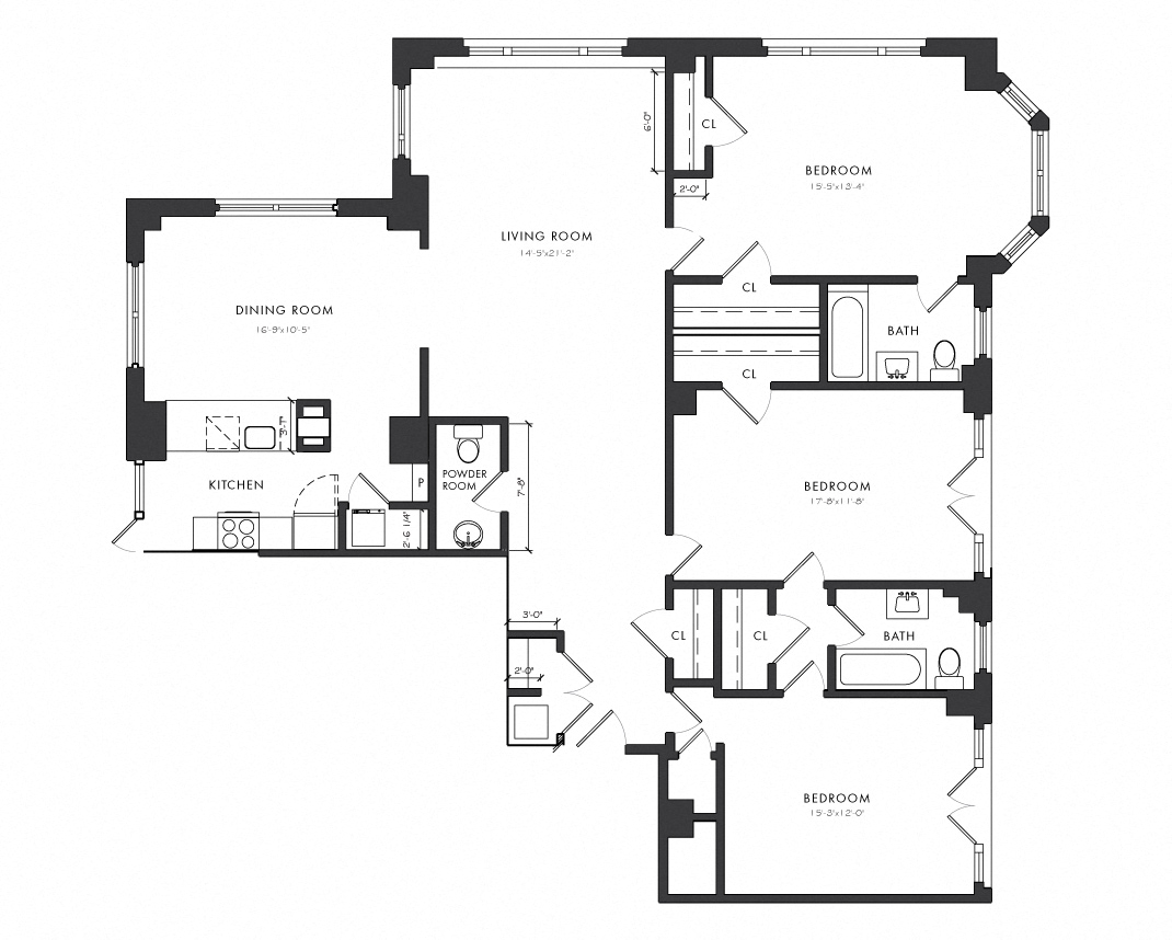 The Versailles Residence Floor Plans