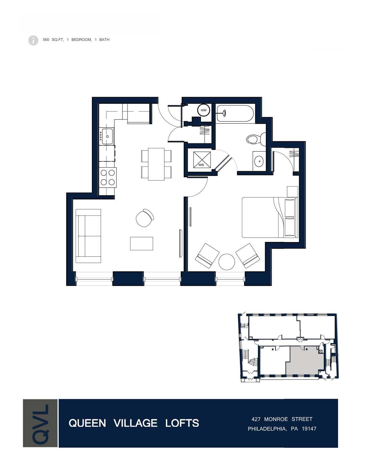 Queen Village Lofts Floor Plans