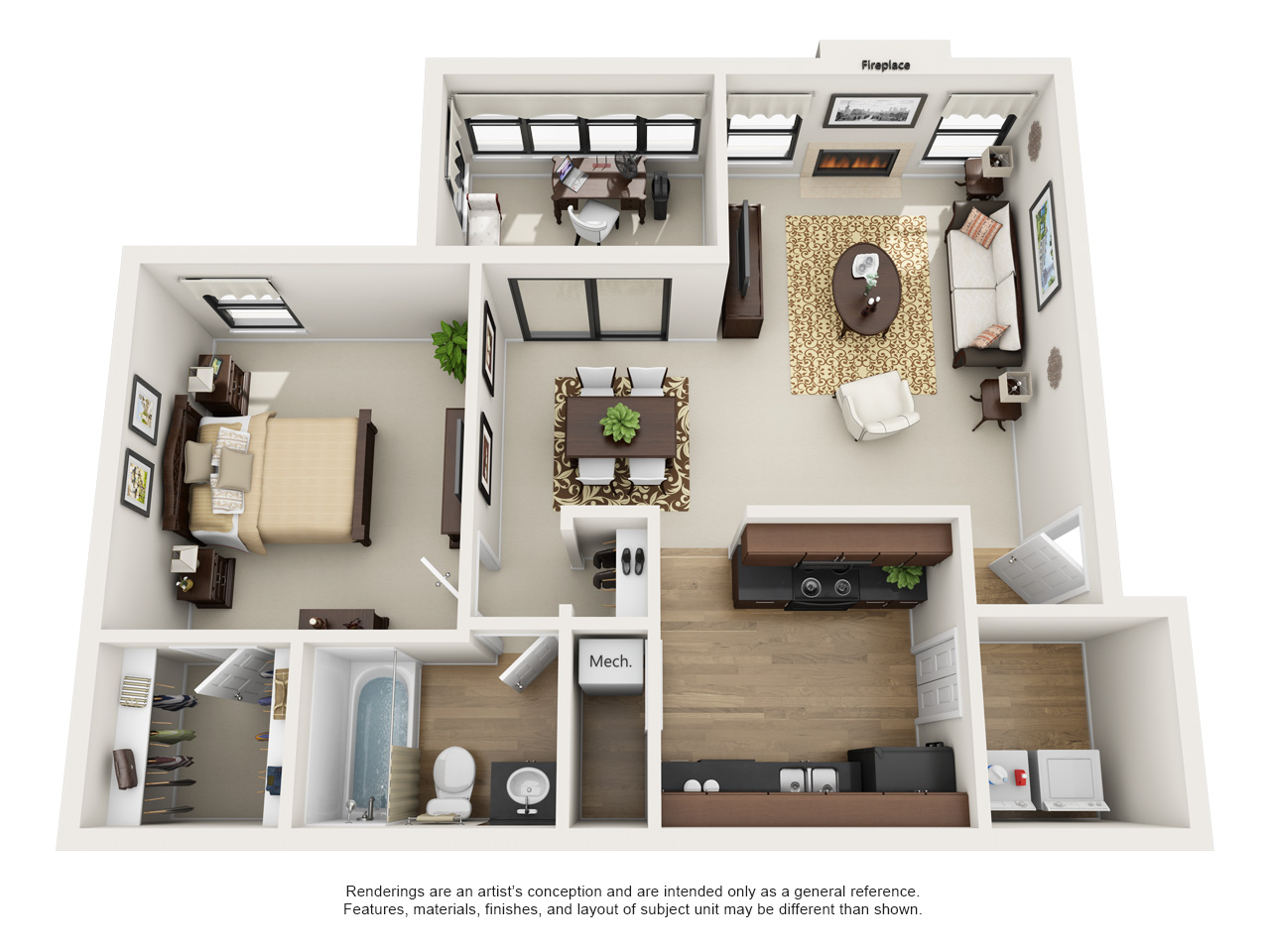 Rosemont at East Cobb Magnolia. One and Two Bedroom Apartment Floor Plans   Rosemont at East Cobb
