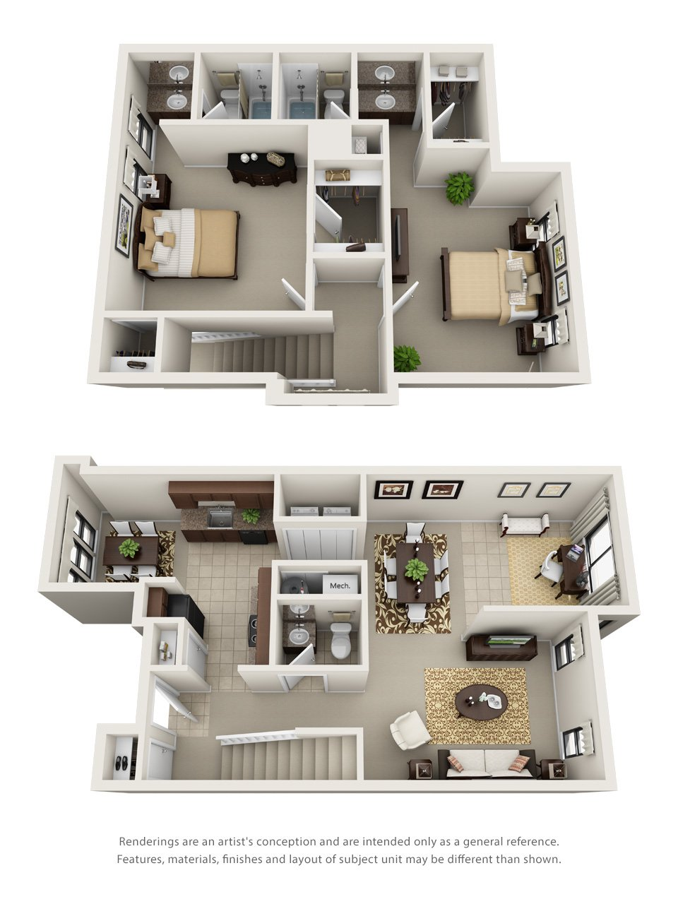 Ridge Crossings Apartments​ 2D