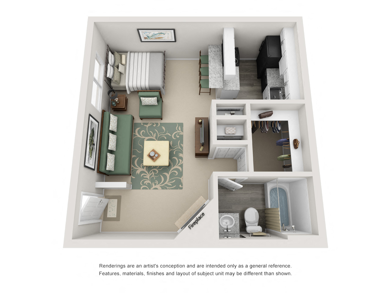 Studio, 1, and 2 Bedroom Floor Plans | Bella Terra Apartments