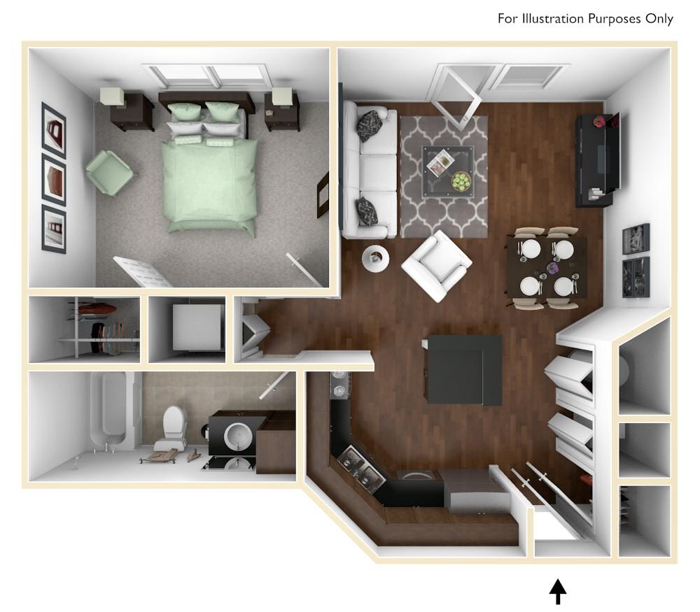 alexandria of carmel apartments in carmel, in | edward rose